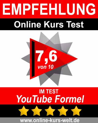 YouTube Formel Kurs Testbericht-Siegel
