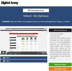 digital army Nischenseiten Kurs