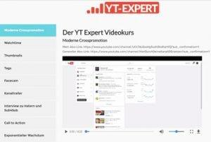 videokurs youtube expert programm