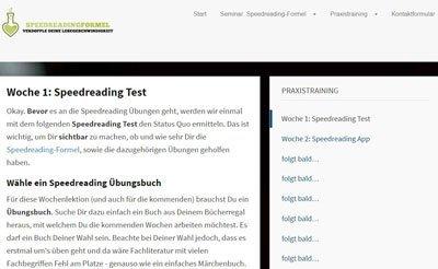 Bücher schneller lesen lernen kurs