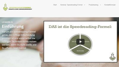 Speed Reading Formel Review und Test