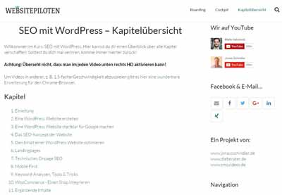 WordPress SEO Kurs