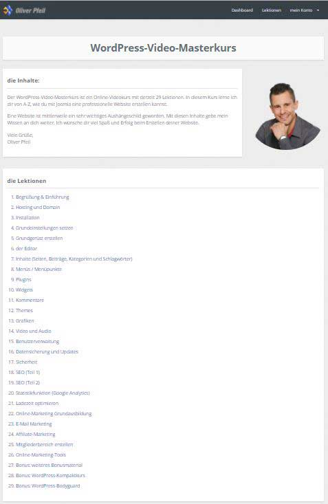 WordPress Video Masterkurs