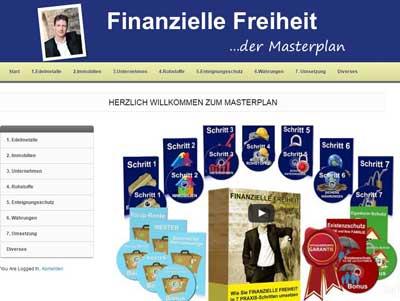 finanzielle freiheit der masterplan