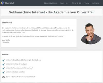 Akademie geldmaschine Internet