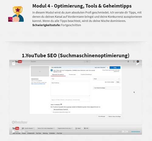 review zum youtube kurs 2
