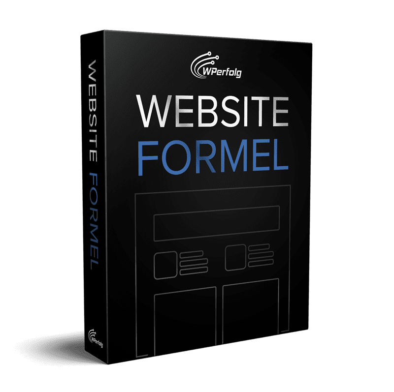 website formel ecover wordpress kurs